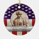 In Loving Memory Military Photo Personalized