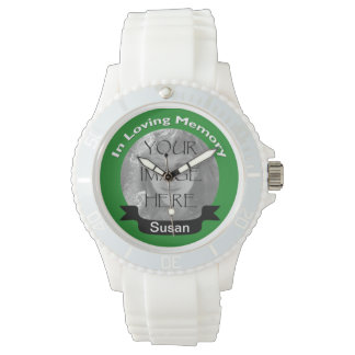 In Loving Memory Of  Green Photo Watch
