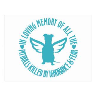 In Loving Memory of the Pitbulls Killed Postcard
