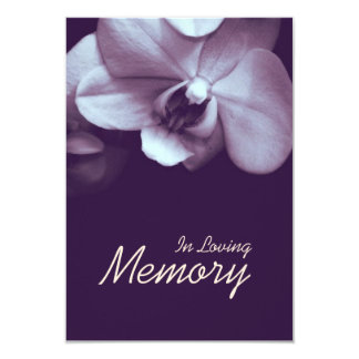 In Loving Memory Orchid 2 Funeral Announcement