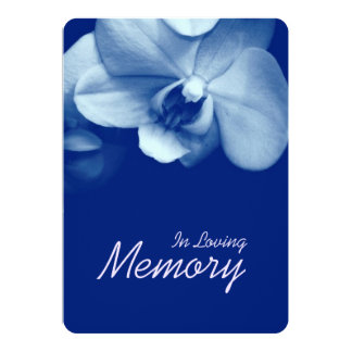 In Loving Memory Orchid 6 Funeral Announcement