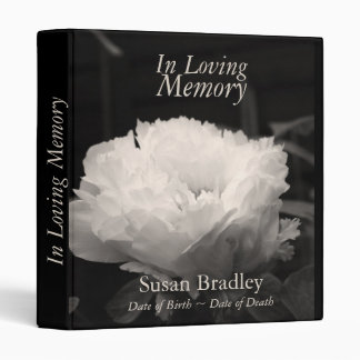 In Loving Memory  Peony  Funeral Guest Book Binder