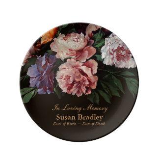 In Loving Memory Personalized Memorial Porcelain Plate