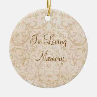 In Loving Memory Personalized Photo Memorial Ceramic Ornament