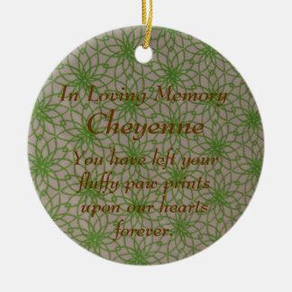 In Loving Memory Pet Lacy Memorial Ornament