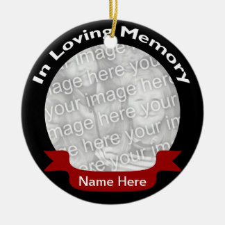 In Loving Memory Photo Ornament - Black
