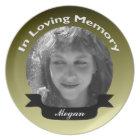 In Loving Memory Photo Plate