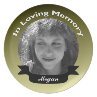 In Loving Memory Photo Plate