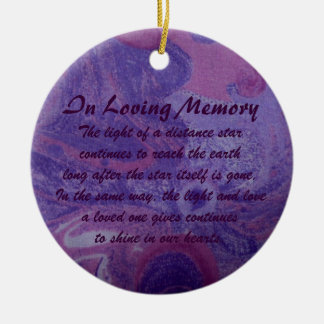 In Loving Memory Purple Tie Dye Swirl Ornament