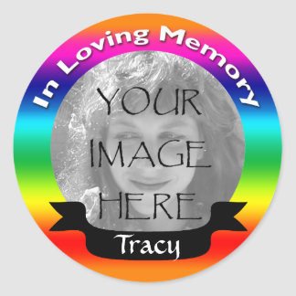 In Loving Memory Rainbow Photo Stickers