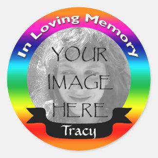 In Loving Memory Rainbow Photo Stickers