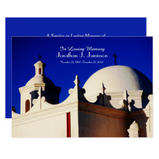 In Loving Memory Service Invitation Church Sunrise