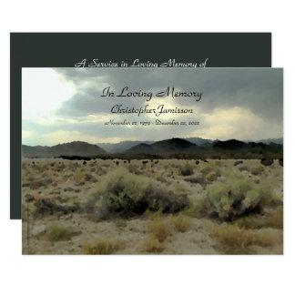 In Loving Memory Service Invitation Mountain Storm