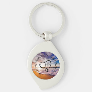 In Loving Memory Silver-Colored Swirl Keychain