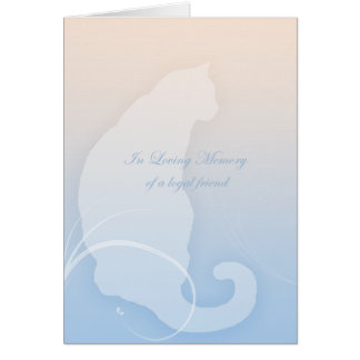 In Loving Memory sincere sympathy for cat Card