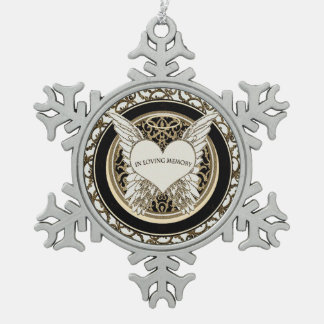 In Loving Memory Snowflake Pewter Christmas Ornament