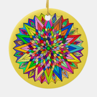 In Loving Memory Star Light Kaleidoscope Memorial Ceramic Ornament