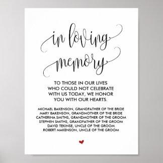 In loving memory Wedding Memorial Table Sign v2