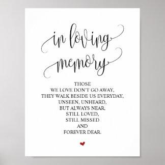 In loving memory Wedding Memorial Table Sign v3