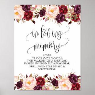 In loving memory Wedding Memorial Table Sign v9