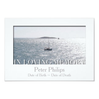 In Loving Memory White Frame Custom Celebration Card