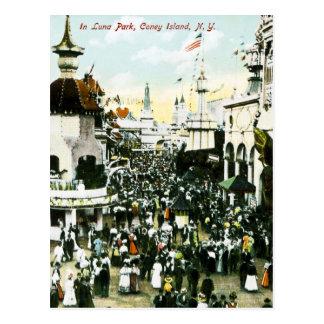 In Luna Park, Coney Island, New York Postcard