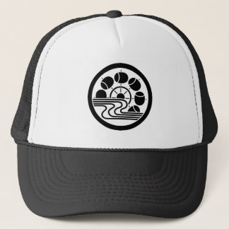 In medium flower in water hammer car trucker hat