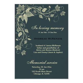 "In Memoriam 5"" X 7"" Invitation Card"
