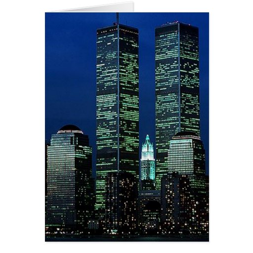 In Memoriam In memory of Twin Towers WTC NYC Greeting Cards