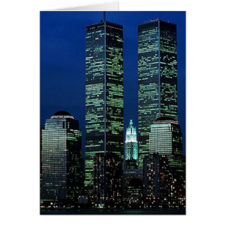 In Memoriam In memory of Twin Towers WTC NYC Greeting Card
