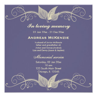 In Memoriam Personalized Announcement