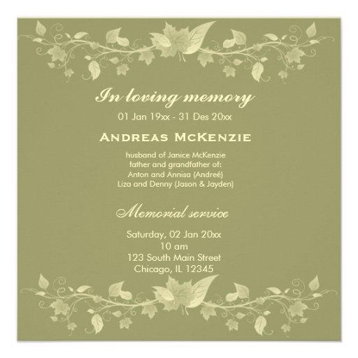 In Memoriam Custom Invite