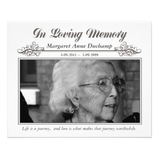 In Memoriam Loving Memory Funeral Photo Hand Out Flyer Design