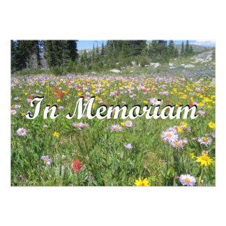 In Memoriam Mountain Wildflowers Landscape Invitations