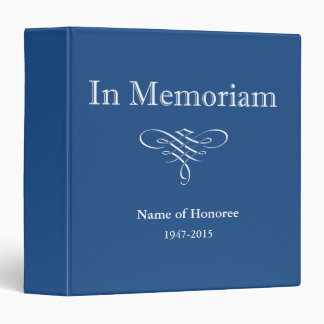 In Memoriam Photo or Guest Book 3 Ring Binder