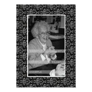 """In Memoriam Remembrance Death Notice Photo 5"""" X 7"""" Invitation Card"""