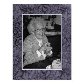 """In Memoriam Remembrance Death Notice Photo 4.25"""" X 5.5"""" Invitation Card"""