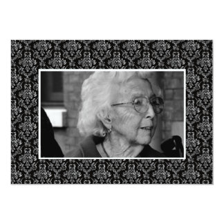 """In Memoriam Remembrance Funeral Eulogy Photo 5"""" X 7"""" Invitation Card"""