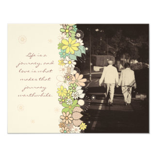 "In Memoriam Thank You Husband or Wife Death 4.25"" X 5.5"" Invitation Card"