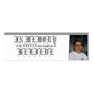 IN MEMORY-BELIEVE BUSINESS CARDS