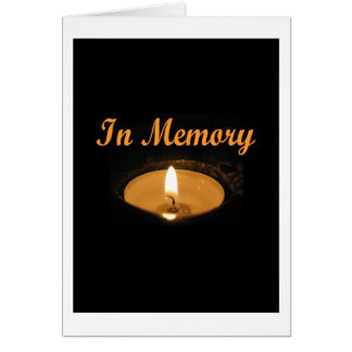 In Memory Candle Glow Greeting Card