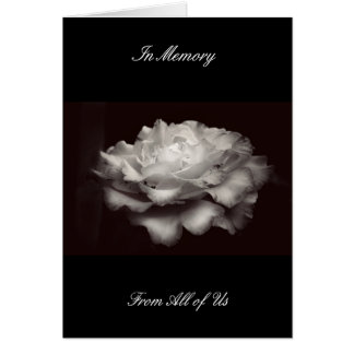 In Memory Card Black White Rose