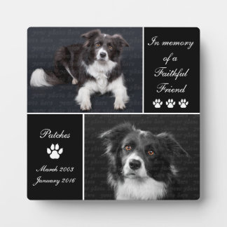 In Memory Dog Photo Memorial Display Plaques