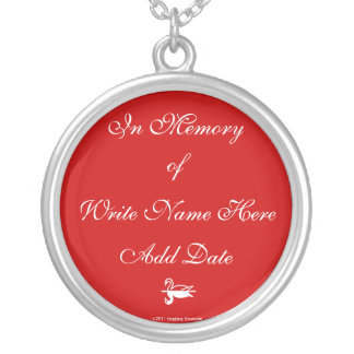 IN MEMORY OF (ADD NAME AND DATE) CHARM NECKLACE