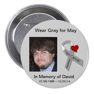 In Memory of David 2 3 Inch Round Button