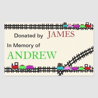 In Memory of Donated Train Bookplates Sticker