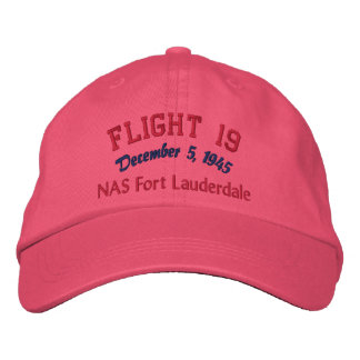 In Memory of Flight 19 Embroidered Baseball Caps