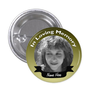 In Memory Of Gold Photo Button