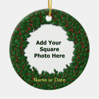 In Memory Of Holly Wreath 2-Sided Tree Ornament