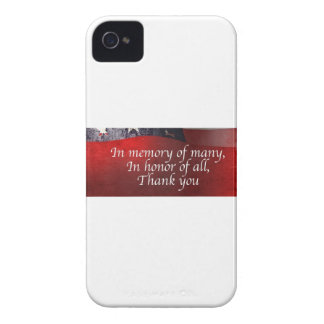 In Memory Of Many In Honor Of All Thank You iPhone 4 Cover